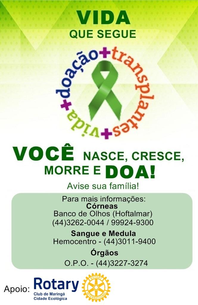 CAMPANHA DE DOAÇÃO DE ORGÃOS